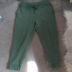 Anthropologie green comfy joggers